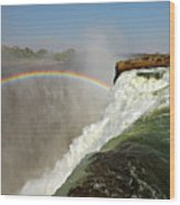 Falling Down  Falls, Zambia Wood Print by © Pascal Boegli