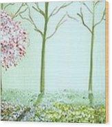 Fantasy Garden Wood Print by Edwin Alverio