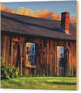 Farrier's Shed Wood Print by Suni Roveto