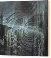 Fear Of The Unknown Wood Print by Linda Sannuti