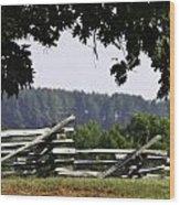Fence At Appomattox Wood Print by Teresa Mucha