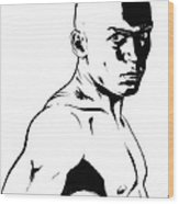 Fighter Wood Print by Giuseppe Cristiano