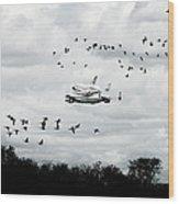 Final Flight Of The Enterprise Wood Print by Tolga Cetin