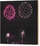 Fire Works Wood Print by Yumi Johnson