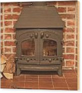 Fireplace Wood Print by Tom Gowanlock
