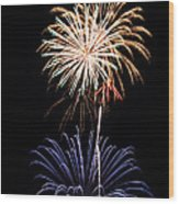Fireworks  Abound Wood Print by Bill Pevlor