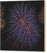 Fireworks Wood Print by Joana Kruse