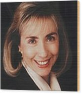 First Lady Hillary Clinton In A 1992 Wood Print by Everett