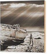Fishing Boat Graveyard 9 Wood Print by Meirion Matthias