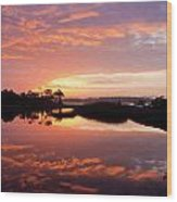 Florida Sunrise Wood Print by Charles Warren