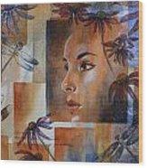 Flying Woman Wood Print by Patsy Sharpe