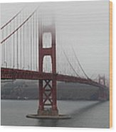 Fog At The San Francisco Golden Gate Bridge - 5d18869 Wood Print by Wingsdomain Art and Photography
