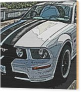 Ford Mustang Gt No. 2 Wood Print by Samuel Sheats