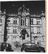 Former Kilmarnock Technical School And Academy Building Now Academy Apartments Scotland Uk Wood Print by Joe Fox