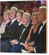 Former Presidents Bill Clinton Wood Print by Everett