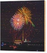 Fourth Of July Wood Print by David Hahn