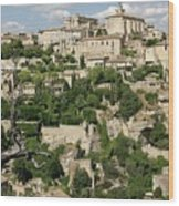 France, Provence, Village Of Gordes Wood Print by Jimmy Legrand