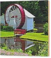 Franconia Notch Waterwheel Wood Print by Catherine Reusch  Daley