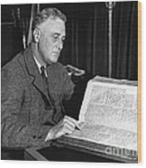 Franklin D. Roosevelt, 32nd American Wood Print by Photo Researchers
