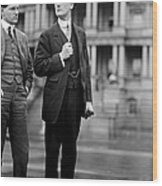 Franklin Delano Roosevelt As A Young Man - C 1913 Wood Print by International  Images