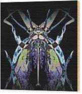 Freaky Bug Plant Wood Print by David Kleinsasser