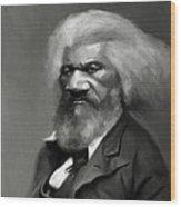 Frederick Douglass Wood Print by Jumaane Sorrells-Adewale