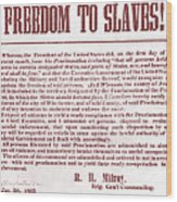 Freedom To Slaves Wood Print by Photo Researchers, Inc.