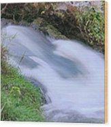 Freely Flowing Wood Print by Kristin Elmquist