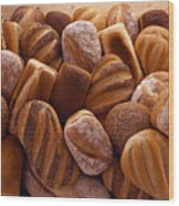 Fresh Bread Loaves Wood Print by Terry Mccormick