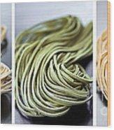 Fresh Tagliolini Pasta Wood Print by Elena Elisseeva