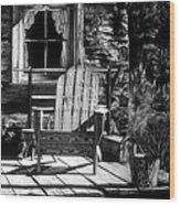 Front Porch Wood Print by Jerry Winick
