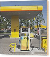 Fuel Pump At A Gas Station Wood Print by Jaak Nilson