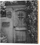 Garden Doorway 2 Wood Print by Perry Webster