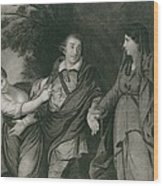 Garrick Between Tragedy And Comedy Wood Print by Everett