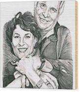 Gene And Majel Roddenberry Wood Print by Murphy Elliott
