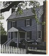 George Peers House Appomattox Virginia Wood Print by Teresa Mucha