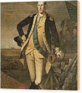 George Washington At Princeton Wood Print by Charles Wilson Peale