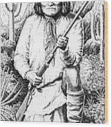 Geronimo Wood Print by Gordon Punt
