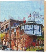 Ghirardelli Chocolate Factory San Francisco California . Painterly . 7d14093 Wood Print by Wingsdomain Art and Photography
