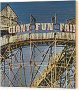 Giant Fun Fair Wood Print by Adrian Evans