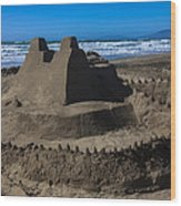 Giant Sand Castle Wood Print by Garry Gay