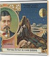 Giovanni Schiaparelli Lunar Advert Wood Print by Detlev Van Ravenswaay