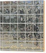 Glass Block Wall Wood Print by Roberto Westbrook
