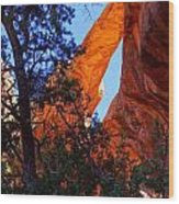Glowing Arch Wood Print by Scott McGuire