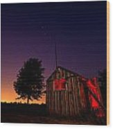Glowing Shed Wood Print by Cale Best