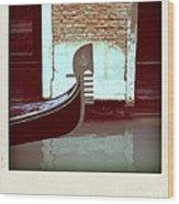 Gondola.venice.italy Wood Print by Bernard Jaubert