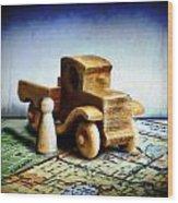 Gone Truckin Wood Print by Adam Vance