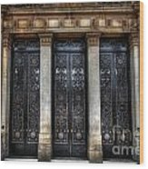 Grand Door - Leeds Town Hall Wood Print by Yhun Suarez