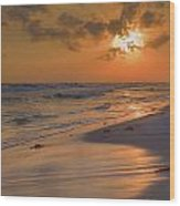 Grayton Beach Sunset 7 Wood Print by Charles Warren