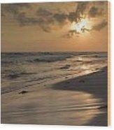 Grayton Beach Sunset Wood Print by Charles Warren